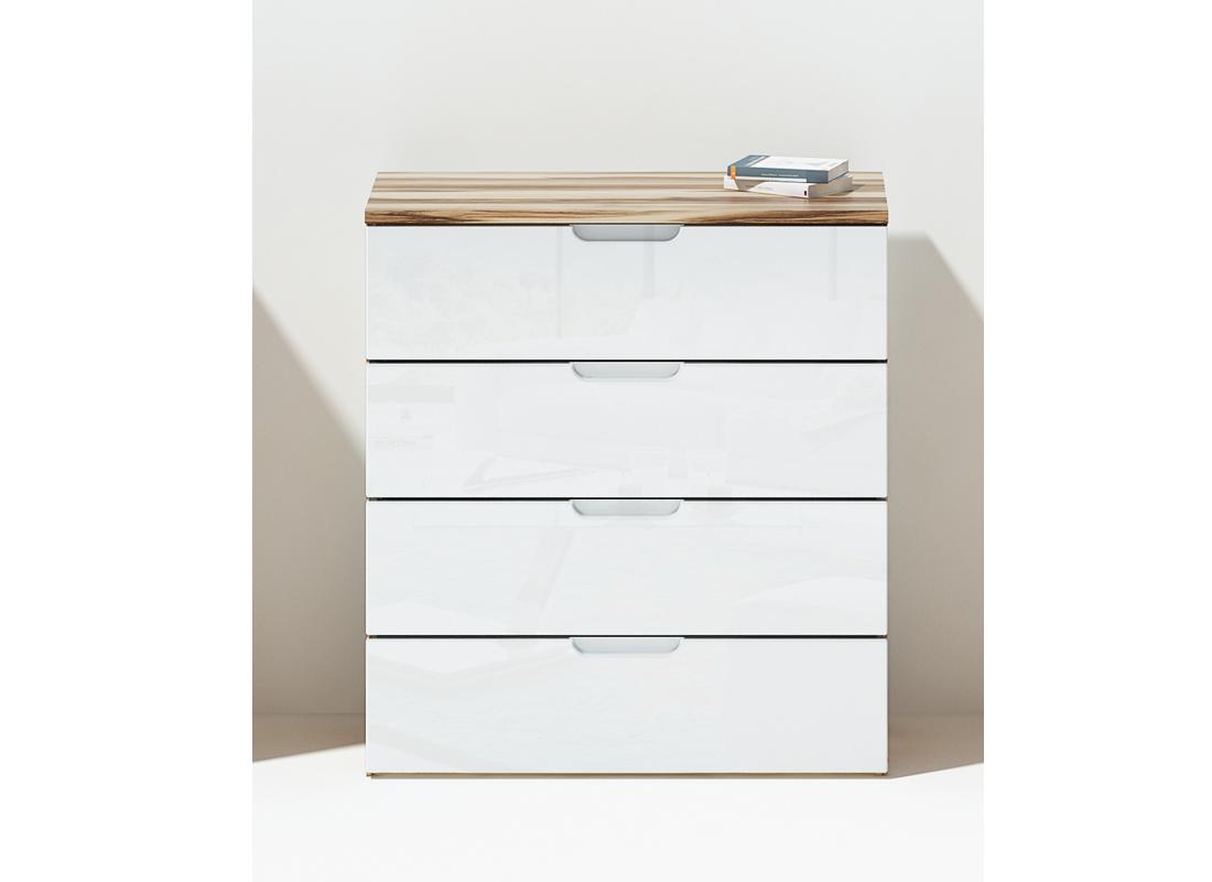 kommode clio 396 hochglanz wei baltimore walnu. Black Bedroom Furniture Sets. Home Design Ideas