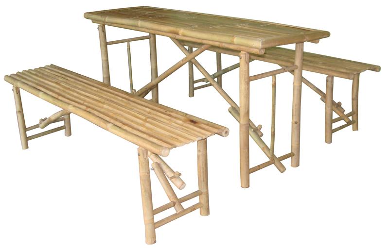 bierzeltgarnitur bambus festzeltgarnitur tisch 2 b nke ebay. Black Bedroom Furniture Sets. Home Design Ideas