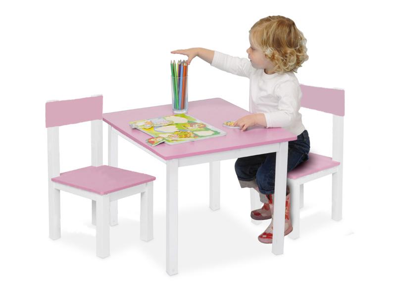 kindertisch 2 kinderst hle rosa schreibtisch kindersitzgruppe kinderm bel neu ebay. Black Bedroom Furniture Sets. Home Design Ideas