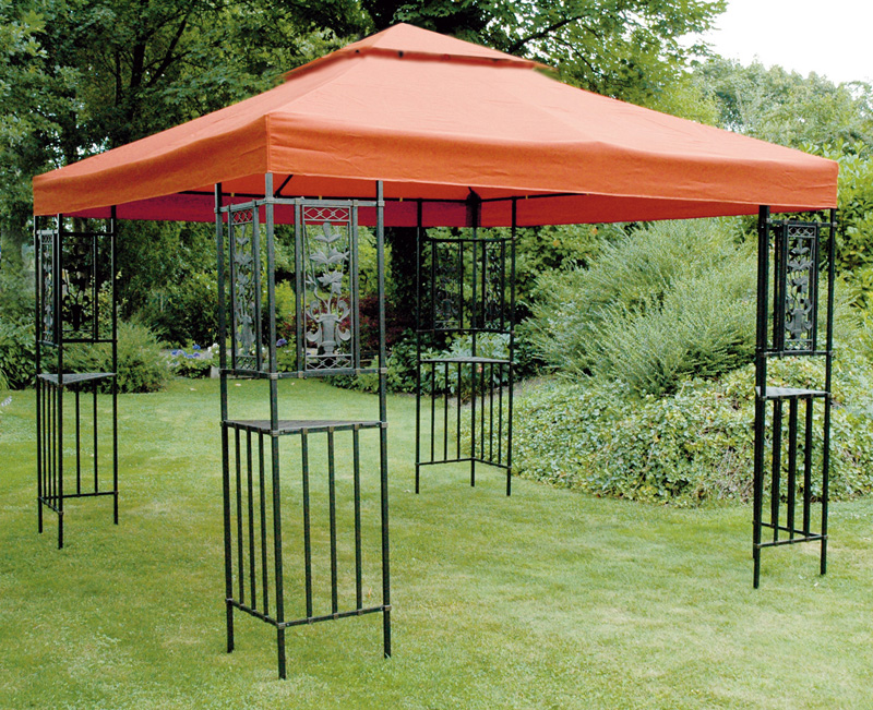pavillon wasserdicht flora wasserfest festzelt gartenzelt pavillion garten neu ebay. Black Bedroom Furniture Sets. Home Design Ideas