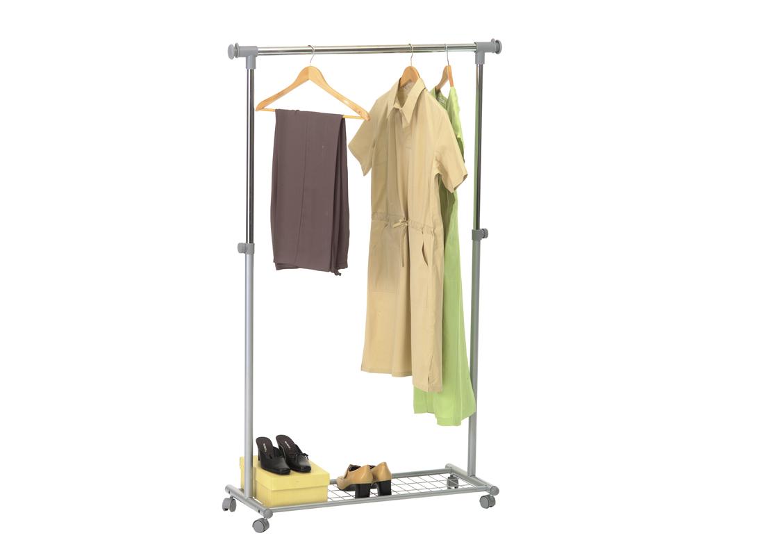 kleiderst nder garderobenst nder kleiderstange mit rollen garderobe metall neu ebay. Black Bedroom Furniture Sets. Home Design Ideas