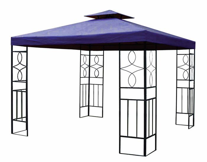 pavillon romantika metall inkl dach wasserfest wasserdicht partyzelt festzelt ebay. Black Bedroom Furniture Sets. Home Design Ideas