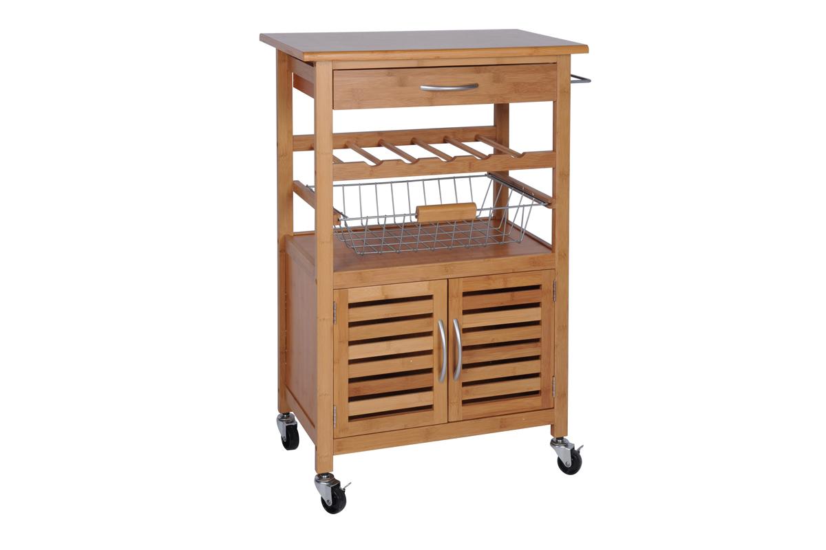 Küchenwagen BAMBUS Küchentrolley Schublade Küchenhilfe ...