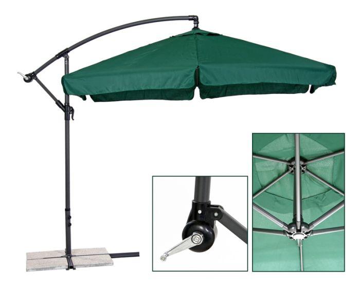 ampelschirm d 3 5 m schirm sonnenschirm farbwahl deluxe marktschirm schirm 350cm ebay. Black Bedroom Furniture Sets. Home Design Ideas