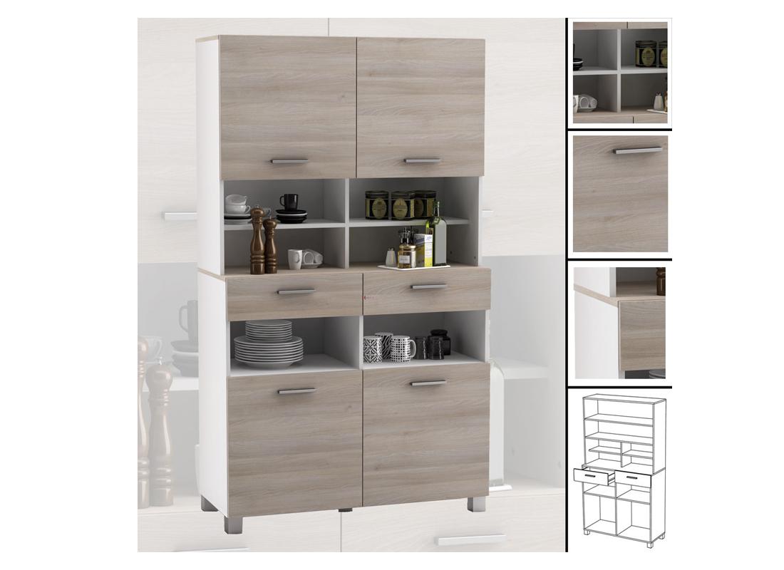 Küchenschrank 676 AKAZIE weiß Schrank Küchenregal Küchenmöbel ...