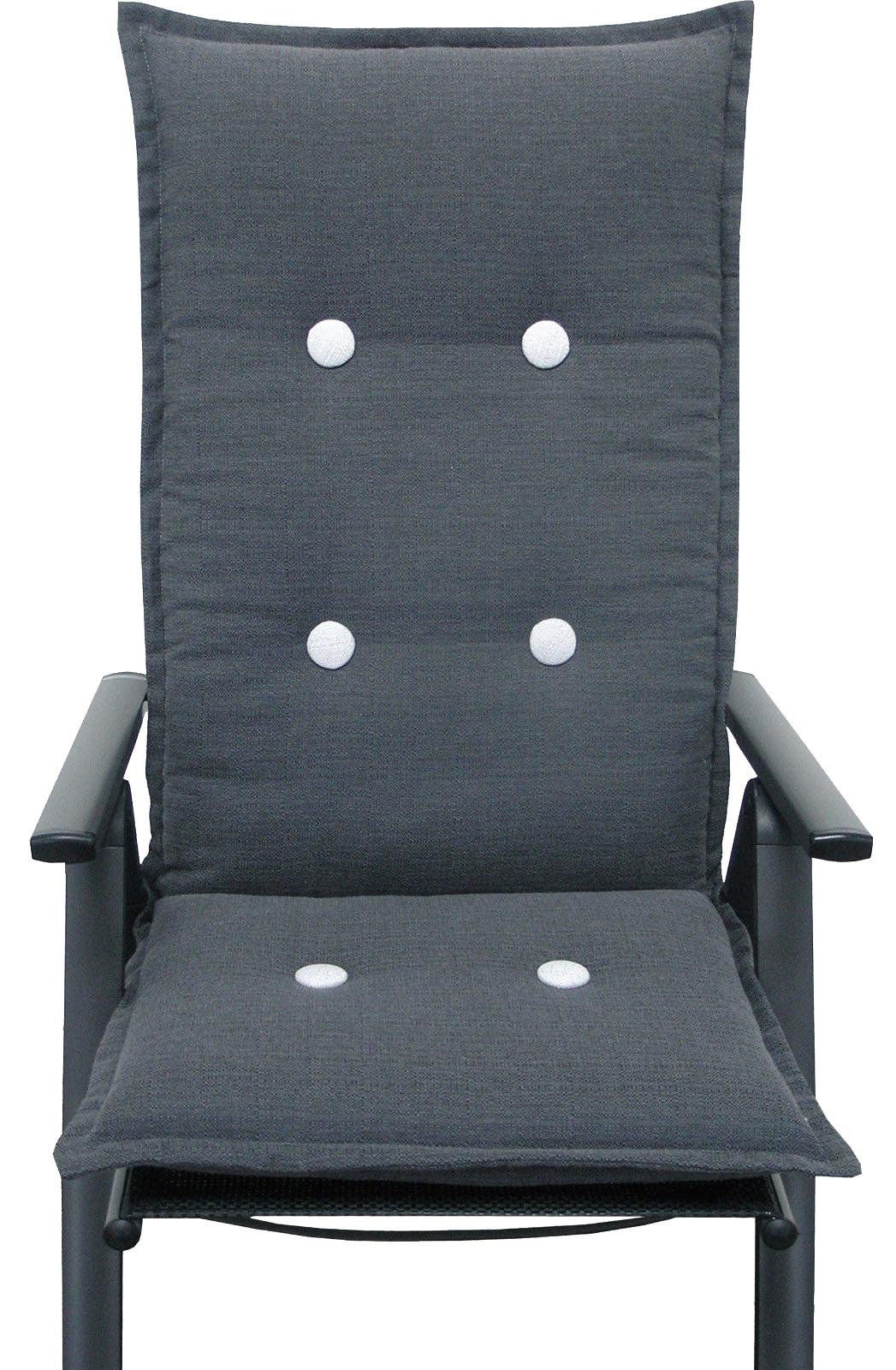 sitzauflagen hochlehner stuhlauflage gartenm bel kissen sitzkissen gartenstuhl ebay. Black Bedroom Furniture Sets. Home Design Ideas