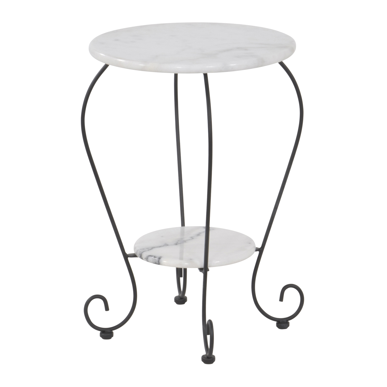 Gartentisch beistelltisch marmor tisch 59 cm bistrotisch for Gartentisch marmor